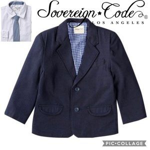 NWT Sovereign Code Blazer/ Navy herringbone + Tie
